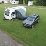 Caravan With Vehicle Angle 2